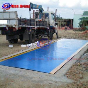 Cân xe tải xe ô tô 30 40 50 60 tấn kiểu chìm